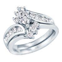 1 ct. tw. Diamond Engagement Ring Set in 14K White Gold