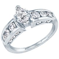 1 1/4 ct. tw. Diamond Engagement Ring in 18K Gold