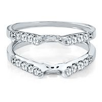 3/4 ct. tw. Diamond Ring Enhancer in 14K White Gold