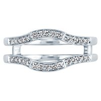 1/4 ct. tw. Diamond Ring Enhancer in 14K White Gold