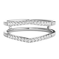 1/7 ct. tw. Diamond Solitaire Ring Enhancer in 14K White Gold