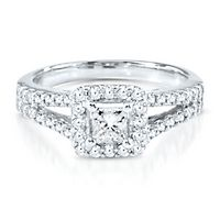 1 ct. tw. Diamond Engagement Ring in 18K White Gold