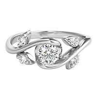 Sirena® 1/3 ct. tw. Diamond Rose Ring in 14K White Gold