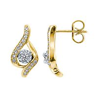 Sirena® 1/3 ct. tw. Diamond Drop Earrings in 14K Yellow Gold