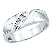Men's 1/4 ct. tw. Diamond Band in 10K White Gold