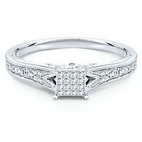 1/6 ct. tw. Diamond Promise Ring in 10K White Gold