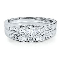 Helzberg Diamond Masterpiece® 1 ct. tw. Diamond Engagement Ring Set in 18K White Gold