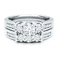Helzberg Diamond Masterpiece® 1 1/2 ct. tw. Diamond Engagement Ring Set in 18K White Gold