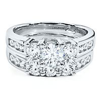 Helzberg Diamond Masterpiece® 2 ct. tw. Diamond Engagement Ring Set in 18K White Gold