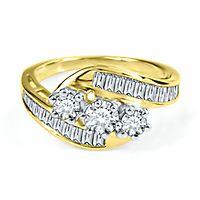1 1/4 ct. tw. Diamond Three-Stone Ring in 10K Yellow Gold
