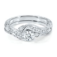 quick look - Engagement And Wedding Ring Set