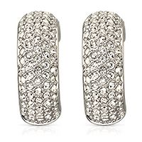 Swarovski® Palace White Crystal Half-Hooped Pierced Earrings