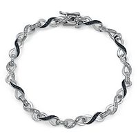 1/3 ct. tw. Black & White Diamond Bracelet in Sterling Silver