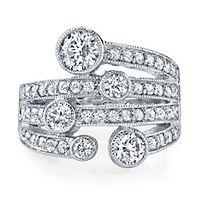 Diamonvita® 1 5/8 ct. tw. Simulated Diamond Ring in Sterling Silver