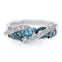 opal ringdecember women blue birthstone topaz rings wedding ring bamos jewelry products december