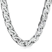 Men's Link Chain in Stainless Steel, 24