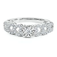 1/7 ct. tw. Diamond Hearts Promise Ring in Sterling Silver