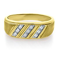 Men's 1/4 ct. tw. Diamond Band in 10K Yellow Gold