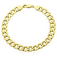 Men's Curb Link Bracelet in 14K Yellow Gold