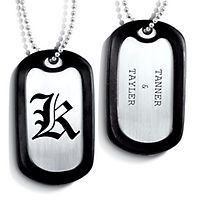 Posh Mommy Engravable Dog Tag in Sterling Silver