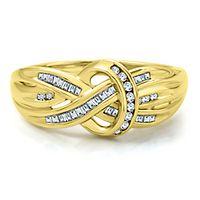1/4 ct. tw. Diamond Twist Ring in 10K Yellow Gold