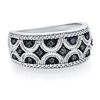 1/3 ct. tw. Black & White Diamond Ring in Sterling Silver