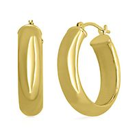 Endura Gold® Half-Round Hoop Earrings in 14K Yellow Gold