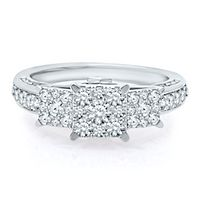 1 1/4 ct. tw. Diamond Cluster Ring in 14K White Gold