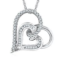 1/3 ct. tw. Diamond Heart Pendant in Sterling Silver