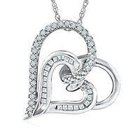 1/3 ct. tw. Diamond Heart Pendant in Sterling Silver