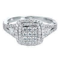 3/4 ct. tw. Diamond Ring in 10K White Gold