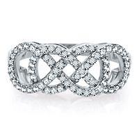 Infinity X Infinity® 3/8 ct. tw. Diamond Ring in 10K White Gold