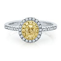 5/8 ct. tw. Yellow & White Diamond Ring in 14K White & Yellow Gold