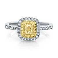 3/4 ct. tw. Yellow & White Diamond Ring in 14K White & Yellow Gold