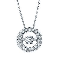 The Beat of Your Heart® 1/5 ct. tw. Diamond Pendant in 14K White Gold