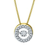 The Beat of Your Heart® 1/5 ct. tw. Diamond Pendant in 14K Yellow Gold