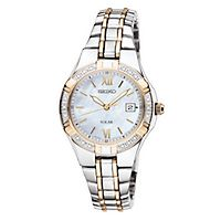 Seiko® Solar Two-Tone Ladies' Watch