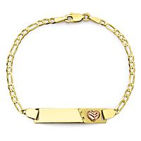 Roberto Martinez Figaro Baby ID Bracelet in 14K Yellow & Rose Gold