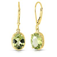 Peridot Dangle Earrings in 14K Yellow Gold
