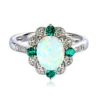 grande opal birthstone gold ring black filled october oriannas products rings