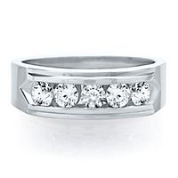 Men's 1 ct. tw. Diamond Ring in 14K White Gold
