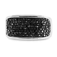 Men's 1 ct. tw. Black Diamond Ring in Sterling Silver