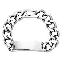 Men's ID Bracelet in Stainless Steel