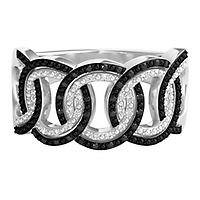 Circle of Love® 1/4 ct. tw. Black & White Diamond Ring in Sterling Silver