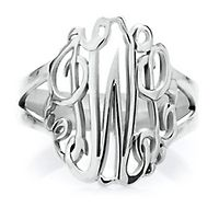 Monogram Ring in Sterling Silver