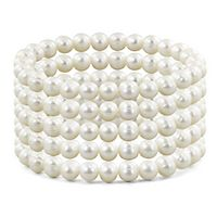Freshwater Cultured Pearl Stretch Bracelet Set