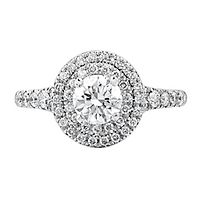 Maple Leaf Diamonds™ 5/8 ct. tw. Diamond Engagement Ring in 18K White Gold