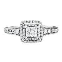 Maple Leaf Diamonds™ 7/8 ct. tw. Diamond Engagement Ring in 18K White Gold