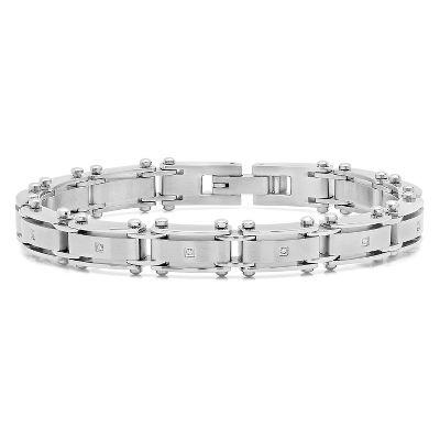 Mens Bracelets Silver Gold Leather More Helzberg Diamonds