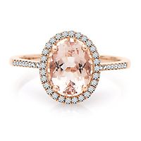 Shades of Love™ Morganite & 1/4 ct. tw. Diamond Ring in 10K Rose Gold
